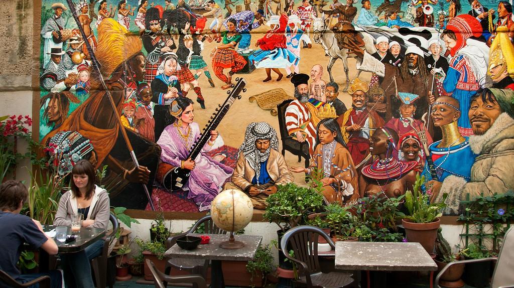 Cafe International World in Haight Ashbury of San Francisco, California, USA.