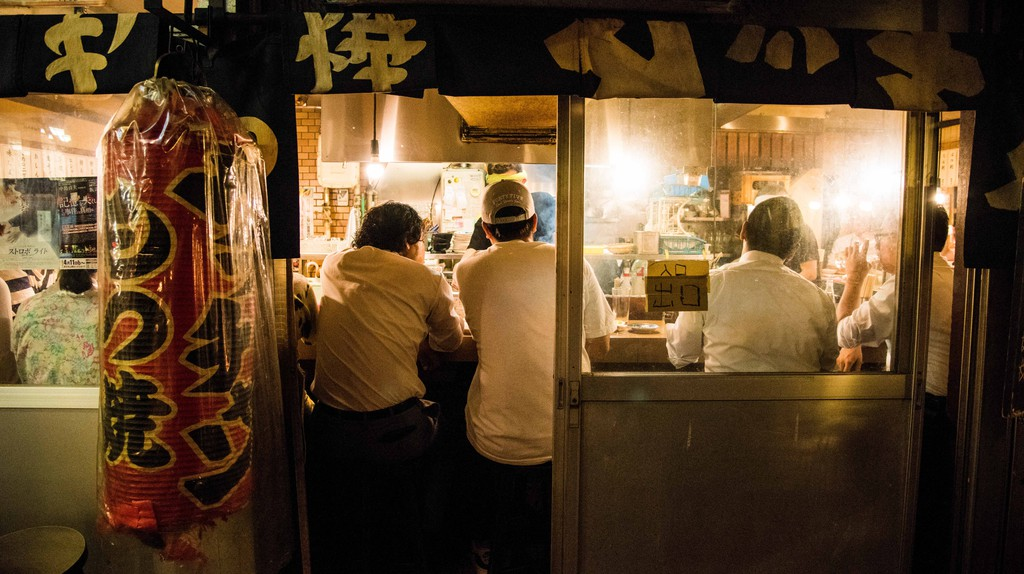 The streets of Harajuku are lined with bars serving a range of drinks