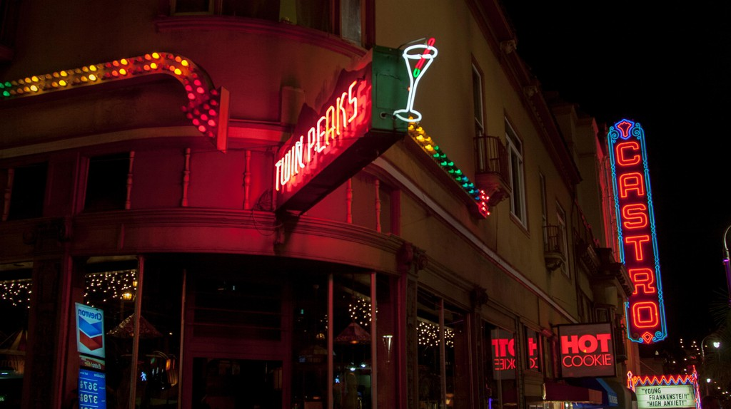 Twin Peaks Tavern sits at the entrance of the Castro District in San Francisco, California