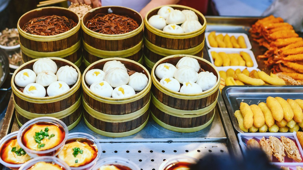 Snacks and desserts can be found in Wangfujing Snack Street Market