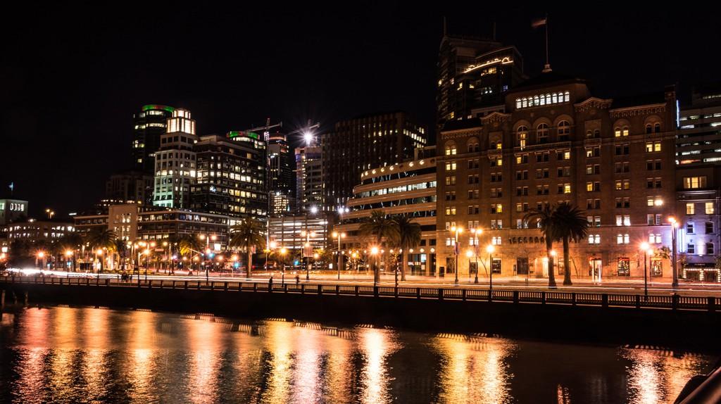 SoMa San Francisco glows at night