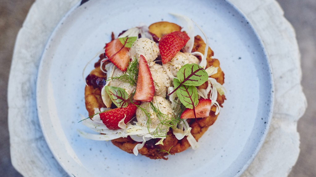 The foie gras funnel cake is one decadent dish you might find at Otium