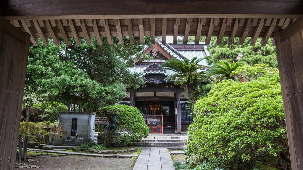 Buddhist temple in Kamakura, Japan