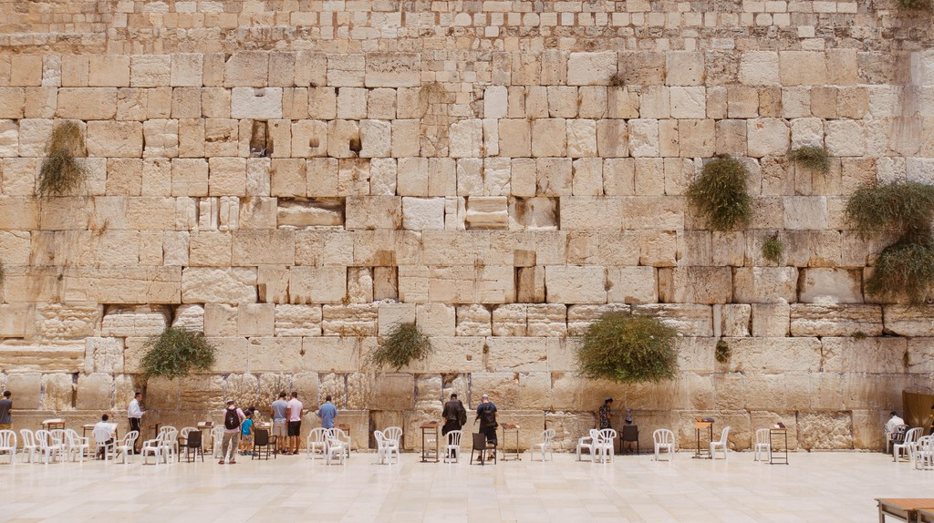 Jewish people from around the world come to pray at the Western Wall in Jerusalem