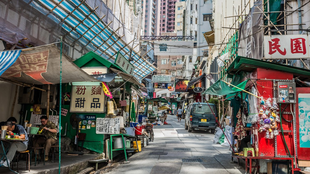 The streets of SoHo in Hong Kong are lined with a variety of restaurants