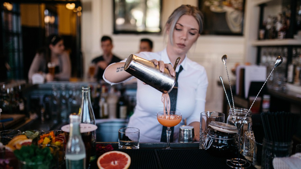 Try one of the experimental cocktails at Hotel Emma's Sternewirth Tavern and Clubroom