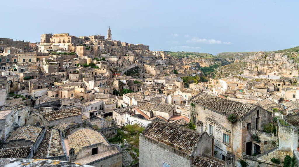 Sassi di Matera ancient town in Matera, Italy