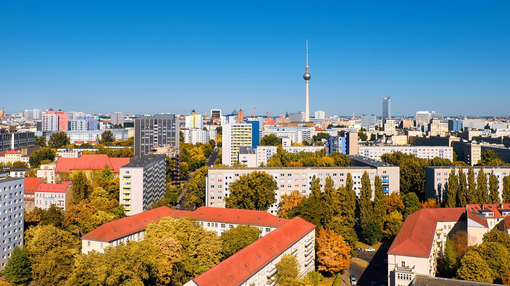 The TV Tower dominates Berlin's skyline