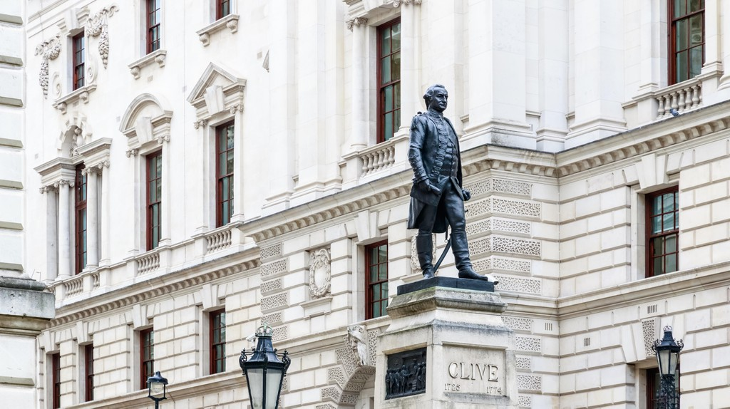 Churchill War Rooms and Robert Clive Memorial, London