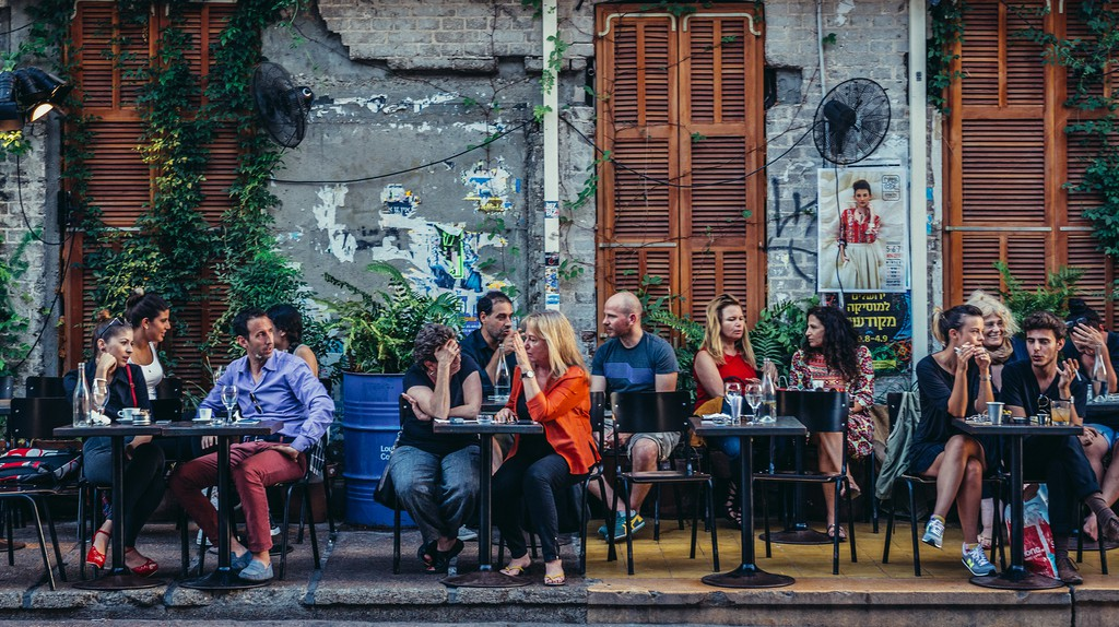 Tel Aviv, Israel, is home to many venues where people can socialise over a drink