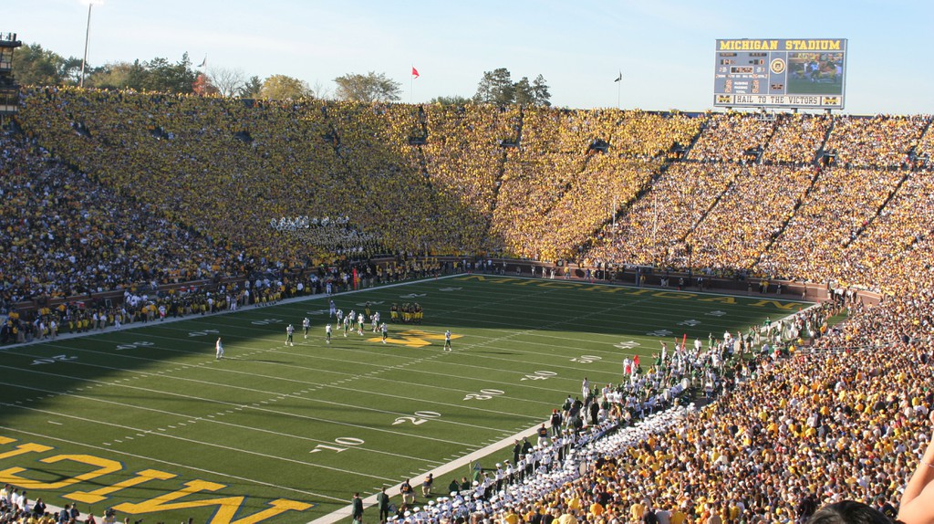Get out of Chicago and watch a game at the University of Michigan