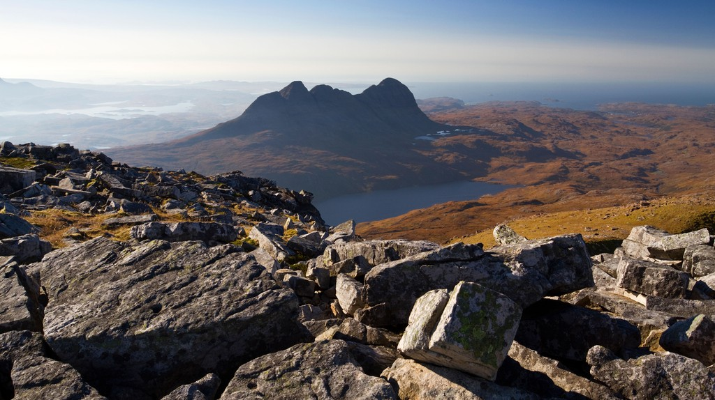 Suilven from the Summit Of Canisp, Scotland