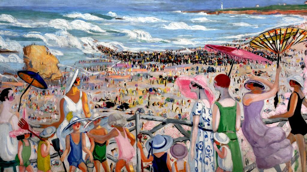 Jacqueline Marval, 'La Grande Plage à Biarritz',1923