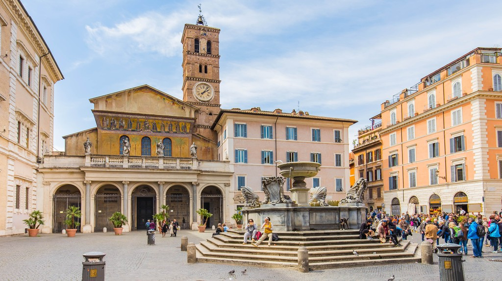 The Basilica di Santa Maria in Trastevere dates back to the third century