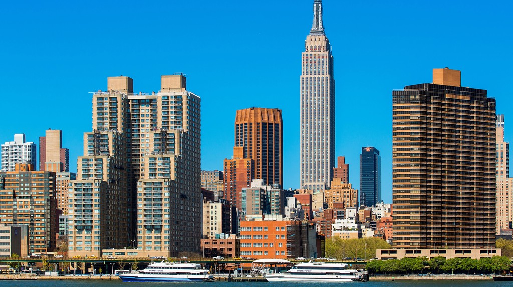 The Empire State Building is a defining feature of the New York City skyline.