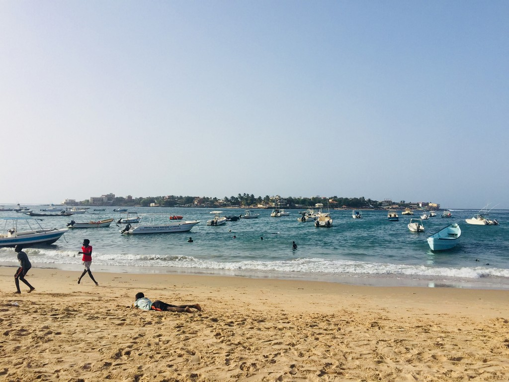View of Ngor Island from Ngor beach