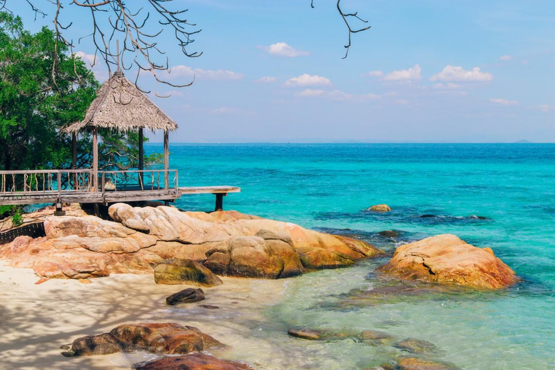 La isla privada de Koh Mun Nork en Tailandia