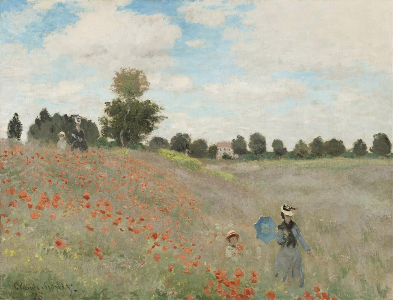 Claude Monet, 'Poppy Field', 1874