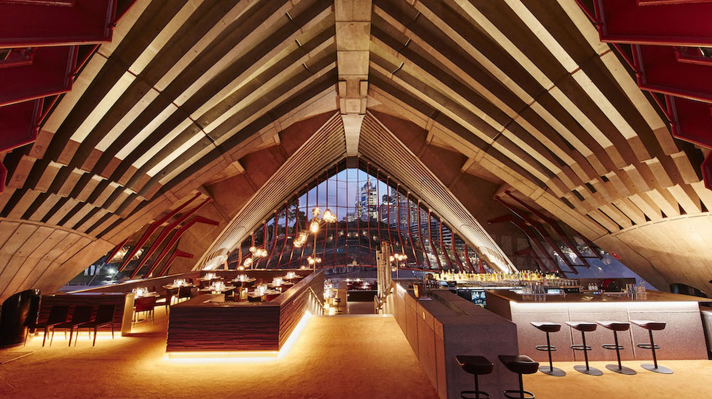 Set under the sail-inspired architecture of the Sydney Opera House, Bennelong is the best place to enjoy award-winning dishes  © Courtesy of Bennelong / Brett Stevens