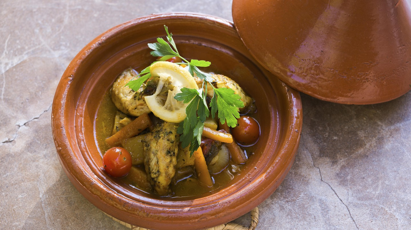 Tajine of monkfish and souk vegetables