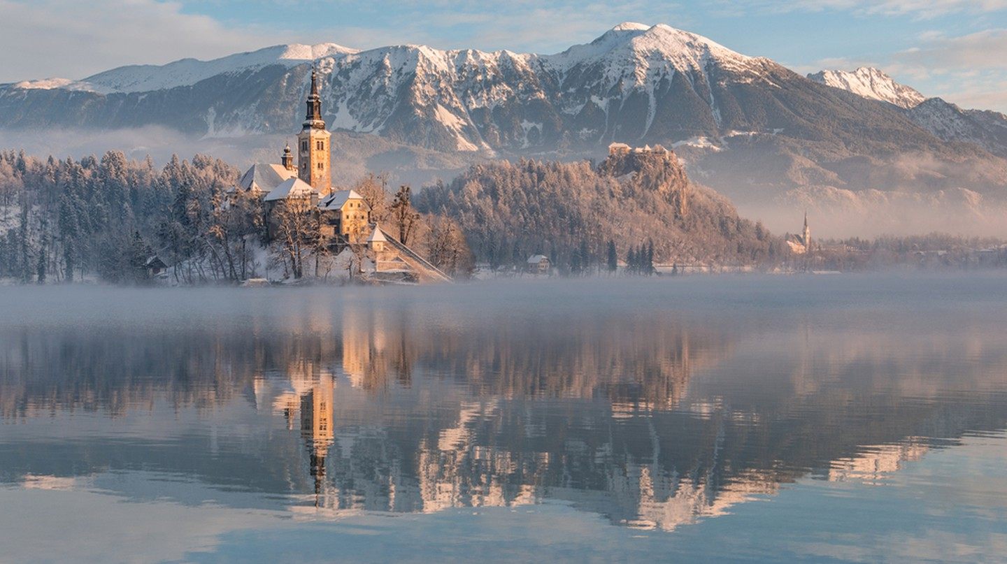 Visit Lake Bled in Slovenia this winter