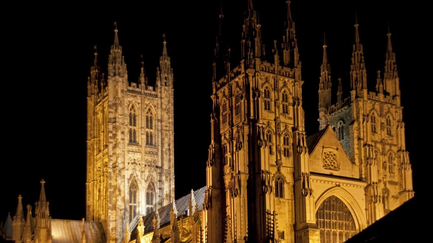 Canterbury Cathedral Night | ©Tony Hisgett/Flickr