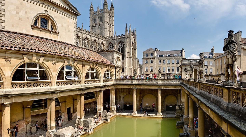 Roman Baths in Bath/ ©WikiCommons