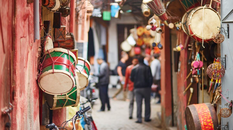 Moroccan Souk in Marrakech, Morocco