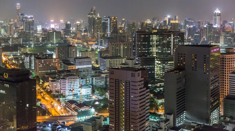 Gleaming skyscrapers of Silom, Bangkok