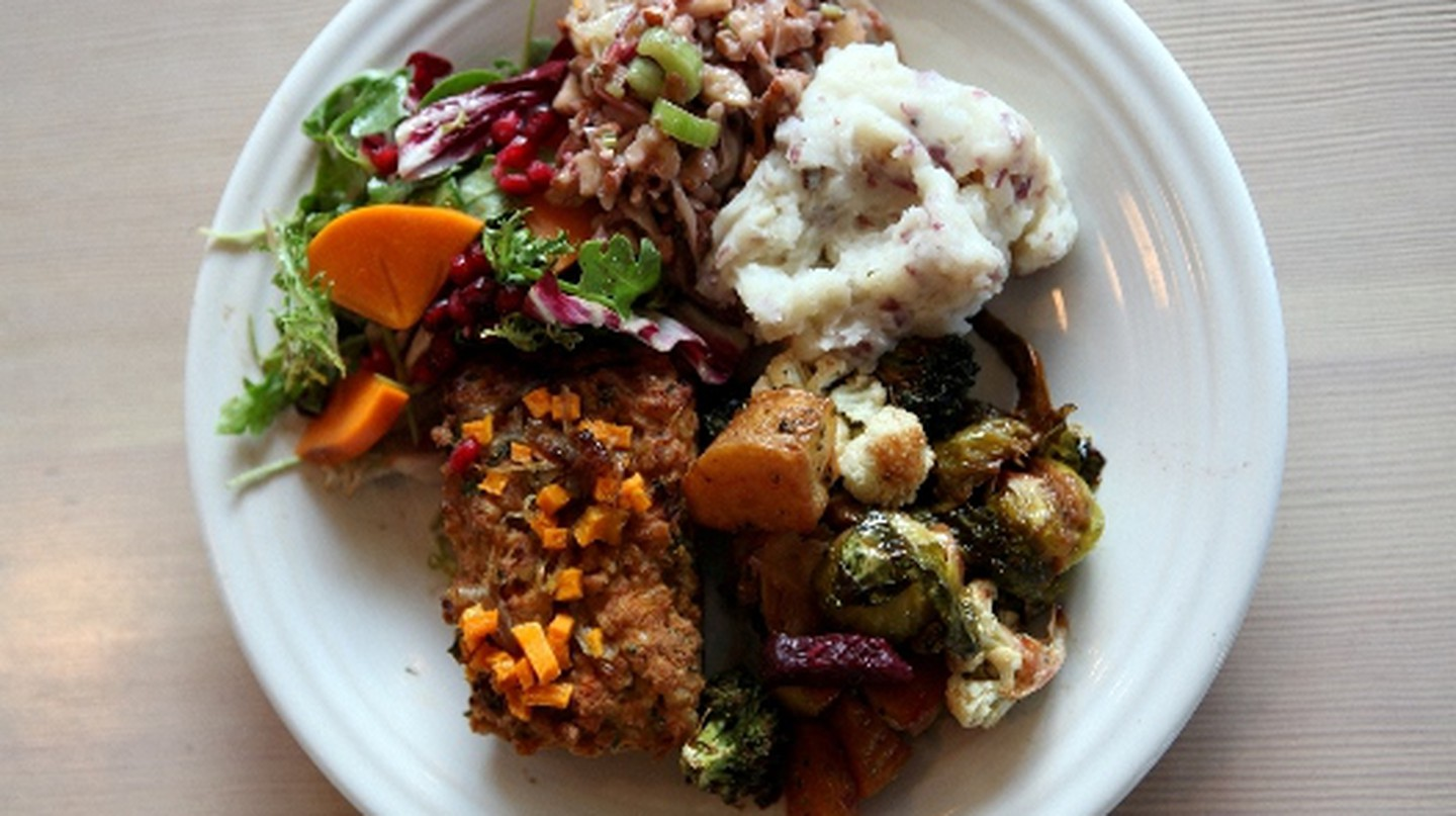 Cafe Gratitude's Free Thanksgiving Plate