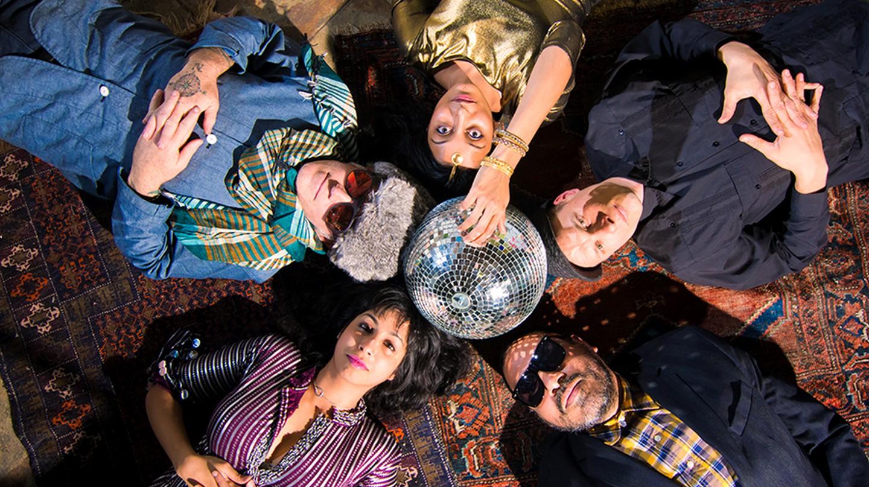 Past and present DJs of Discostan: Clockwise from top: Arshia Haq, Jeremy Loudenback, David Gomez, Sasha Ali, Kirk Gee| © Nanette Gonzalez
