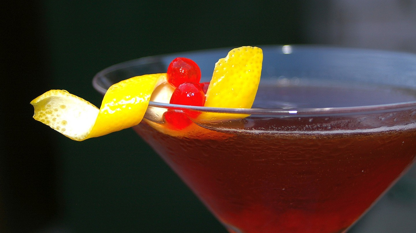 Rum Manhattan with Maraschino Caviar | © My Aching Head/Flickr
