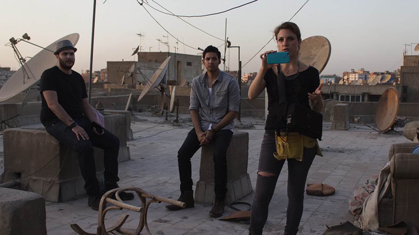 Filming in Egypt | Courtesy Diana Boccara