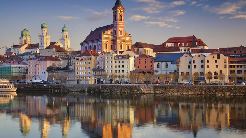 Passau skyline during sunset, Bavaria, Germany  I © Rudy Balasko / Shutterstock