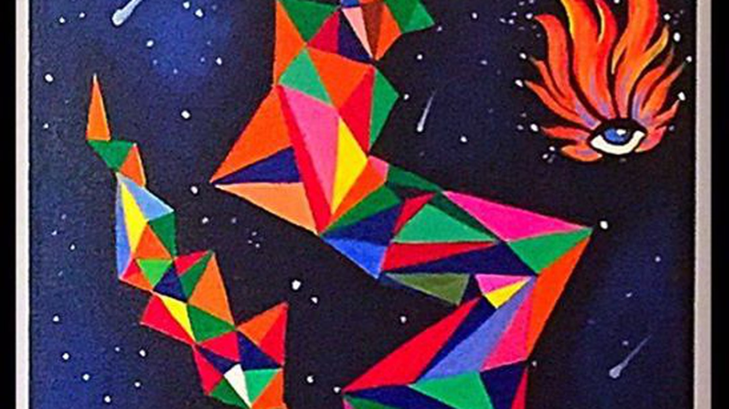 'Searching for my destiny in the stars'. Acrylic on canvas. Astrology series | Courtesy Avantika Mathur
