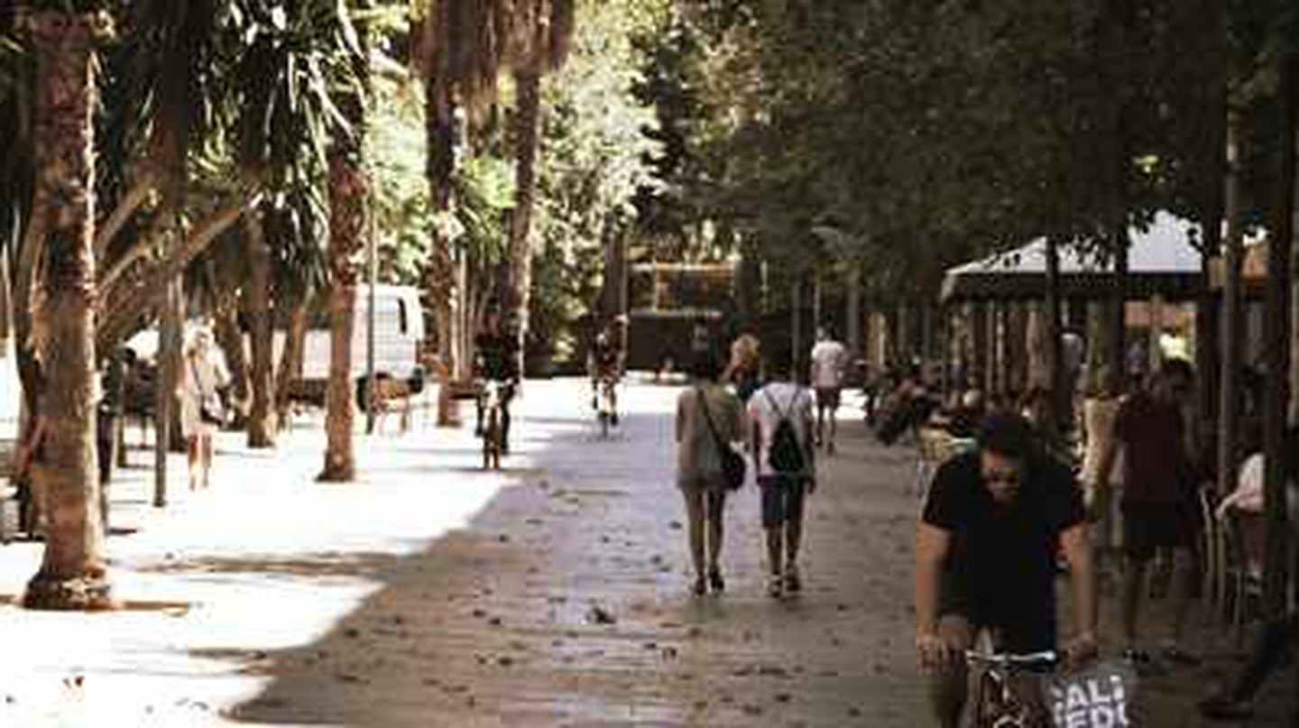 A Day On Charming Calle d'Enric Granados Street In Barcelona