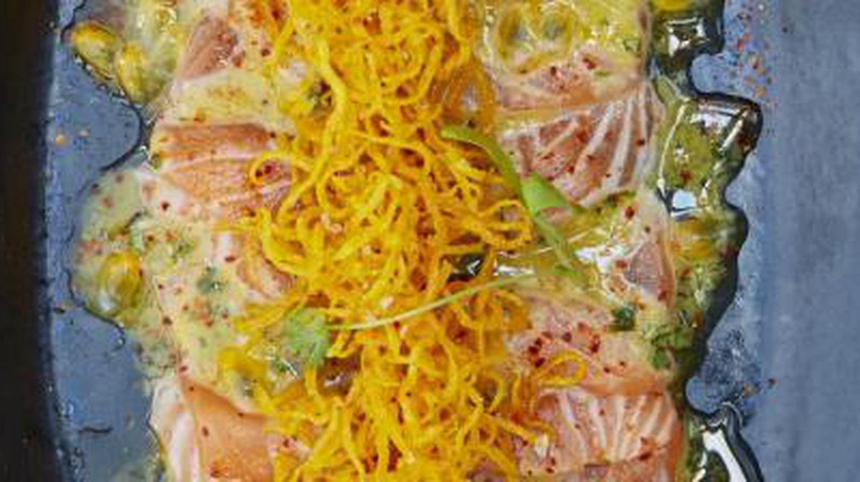 Chef Luiz Hara Shares Salmon & Passion Fruit Tiradito Recipe