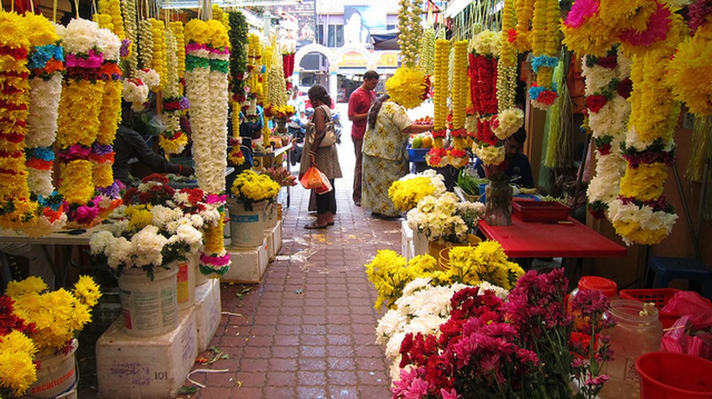 A colourful market in Malaysia