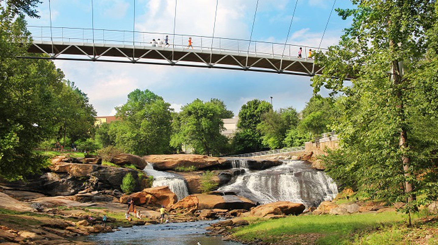 Liberty Bridge At Falls Park | Courtesy VisitGreenvilleSC.com