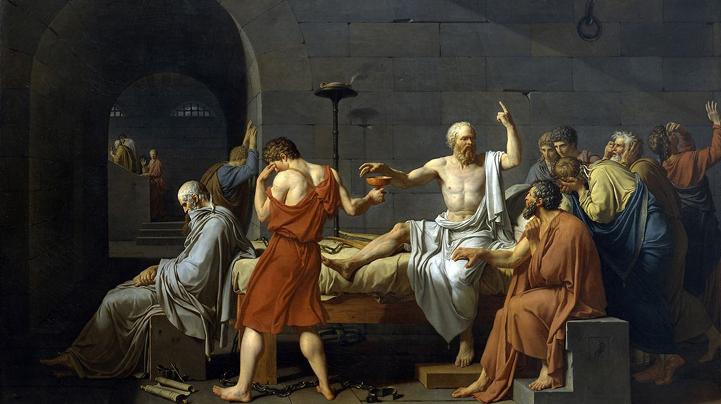 Jaques Louis David, 'The Death of Socrates', 1787