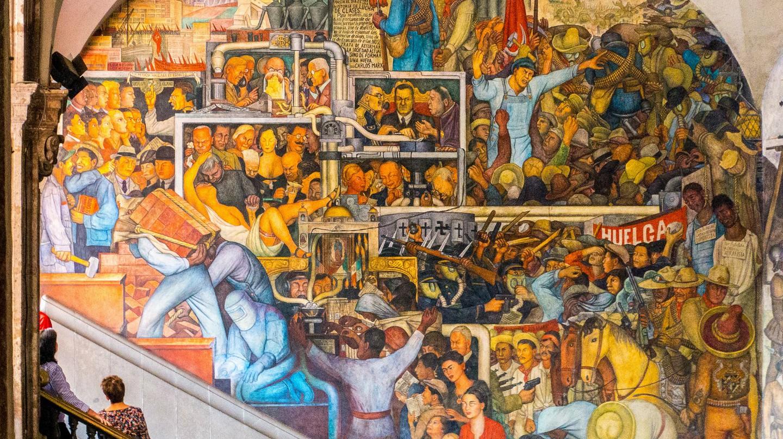 Diego Rivera, El mundo de hoy y de mañana, Palacio Nacional, Mexico City, 1929-1935 | © Jay Galvin/Flickr