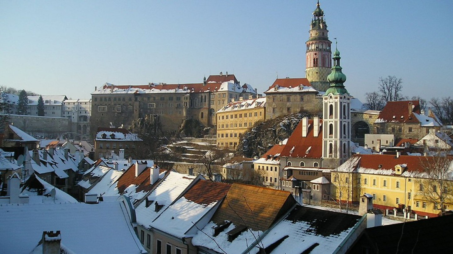 Cesky Krumlov in the winter | © Asahiko/WikiCommons