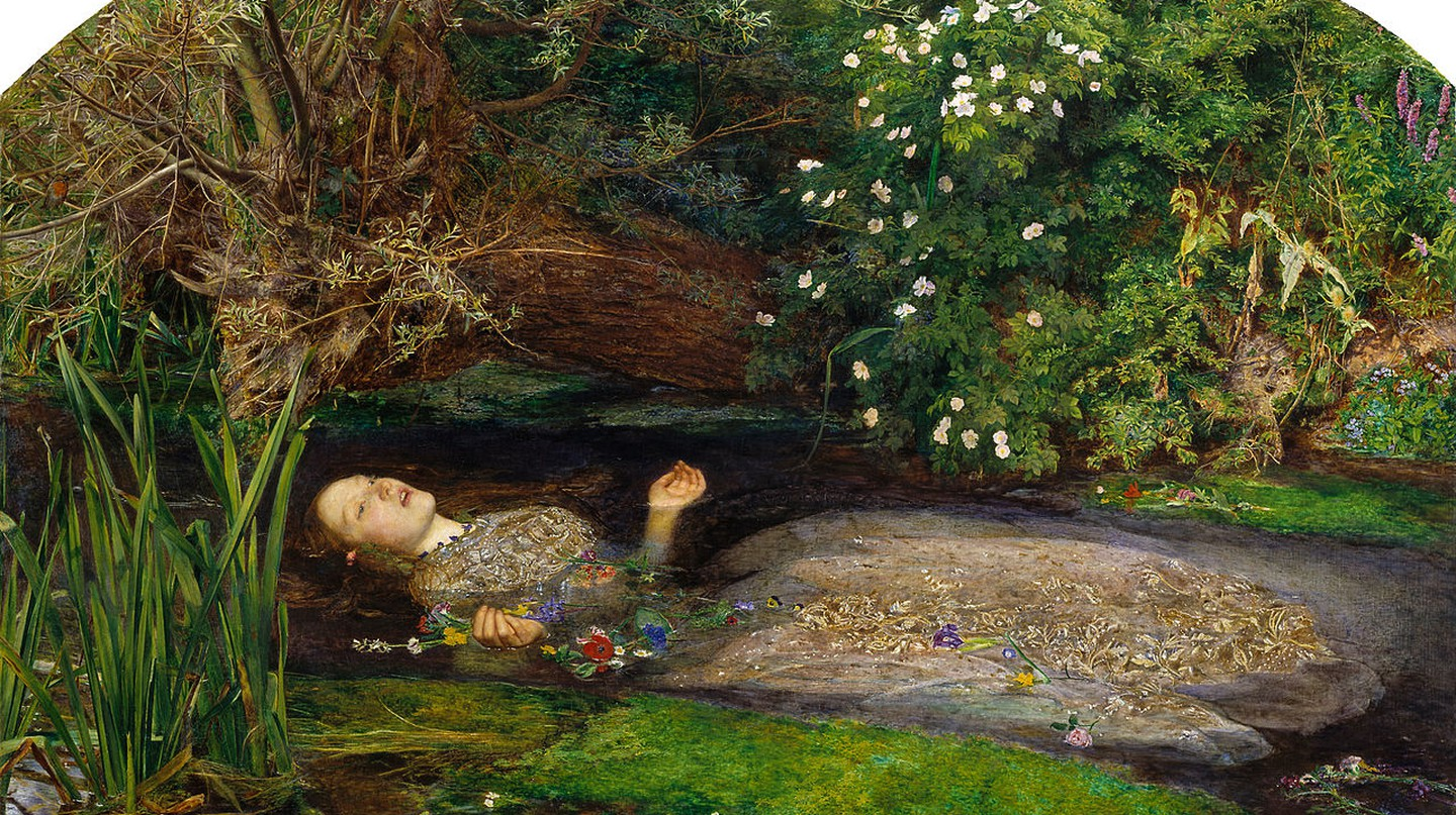 Figure 1, Ophelia by John Everett Millais at Tate Britain, 1851-2 | © DcoetzeeBot/WikiCommons