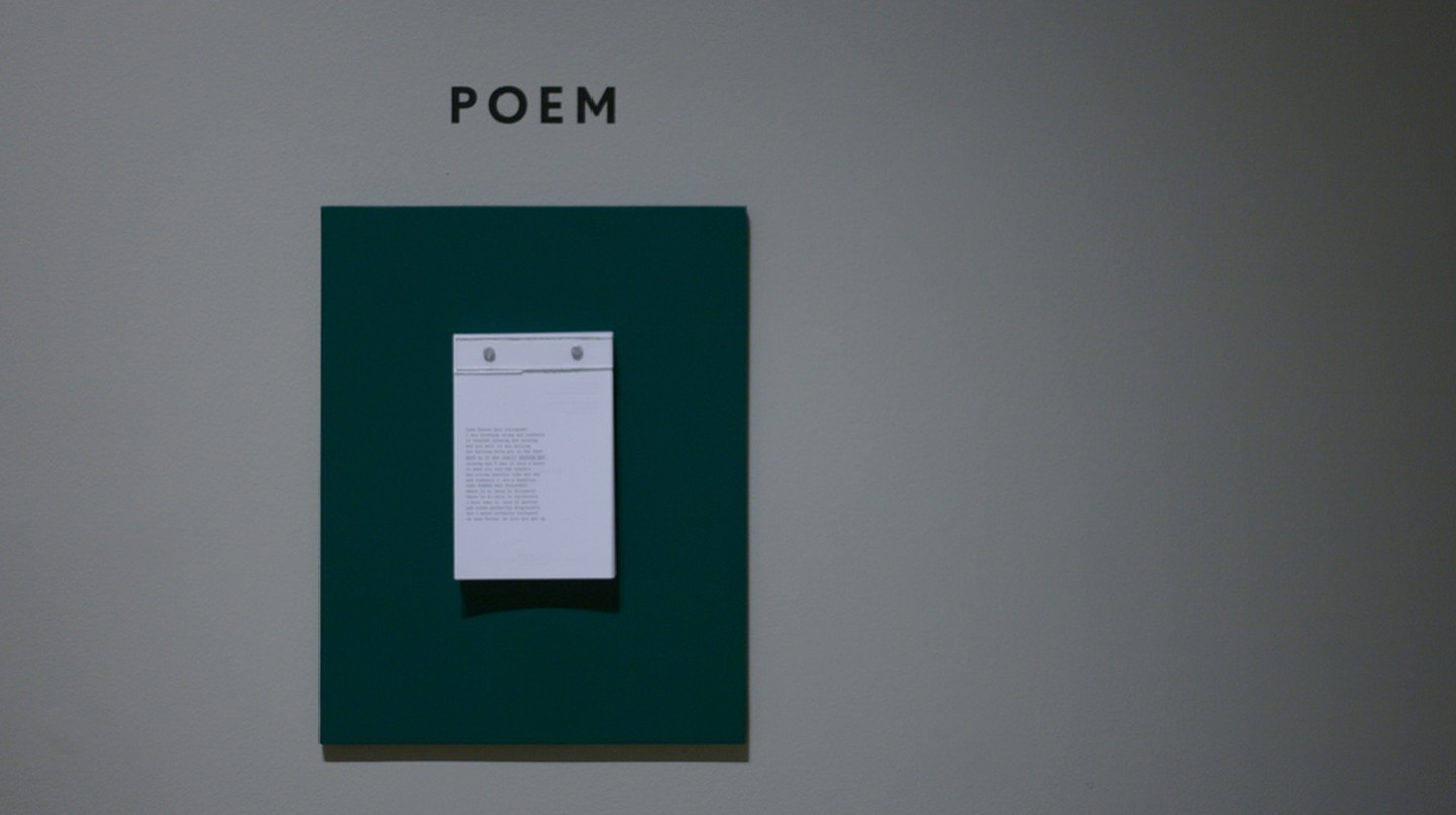Poems by Frank O'Hara hanging on the wall of Museum Of The City Of New York | ©Marcin Wichary/Flickr