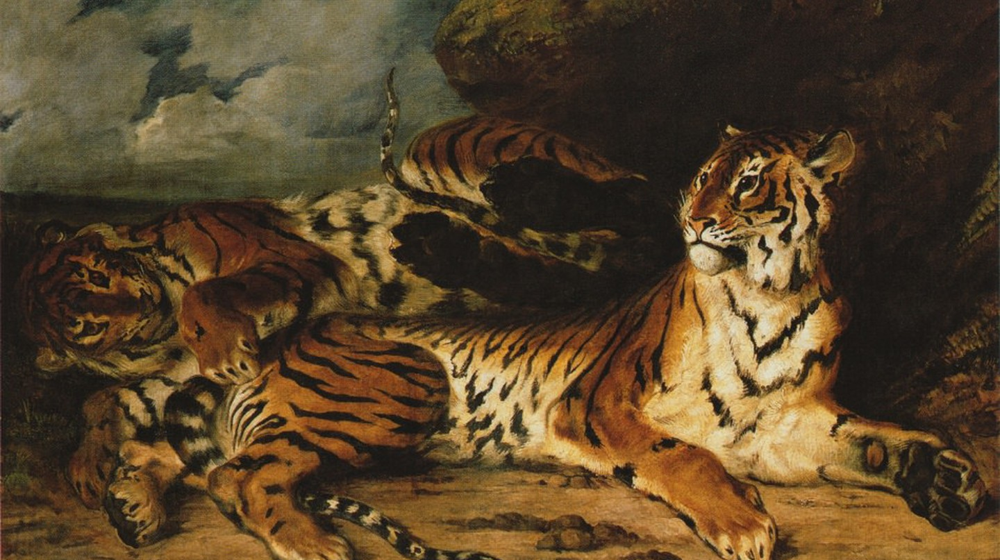 Eugène Delacroix, A Young Tiger Playing With Its Mother, 1832 | © Louvre Museum/WikiCommons