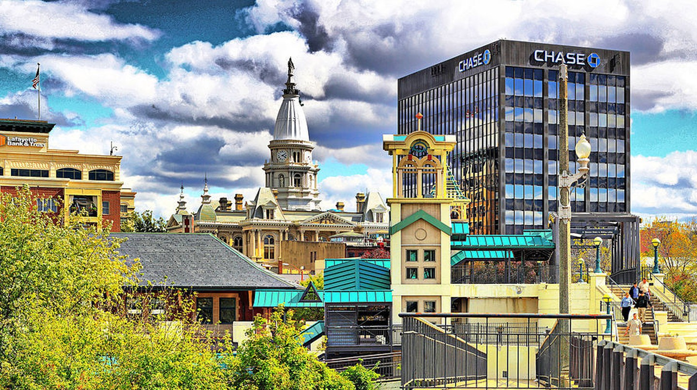 Downtown Lafayette, Indiana | © John Schanlaub/WikiCommons