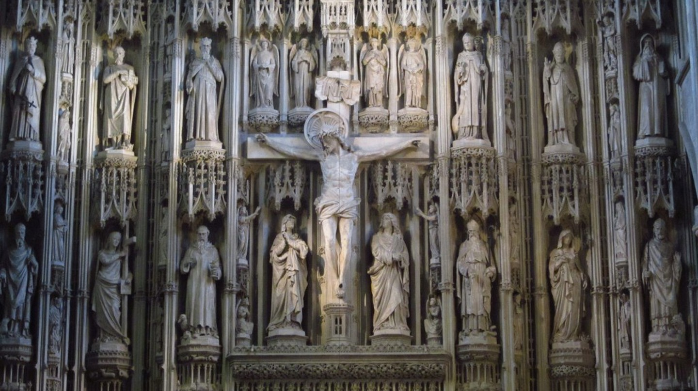 Closeup of altarpiece at St Albans Cathedral | ©Judy Spreng /Flickr