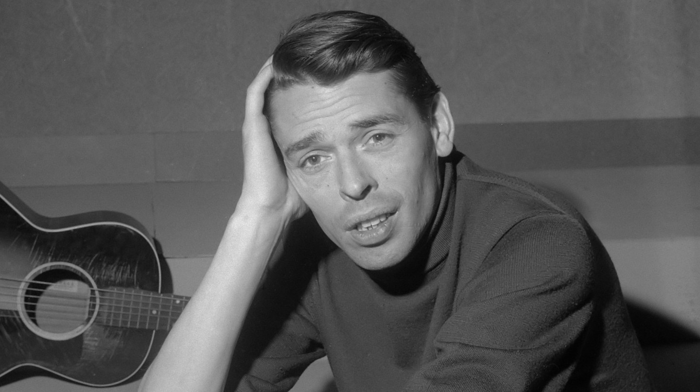 Jacques Brel in TV-programma Domino *21 maart 1962