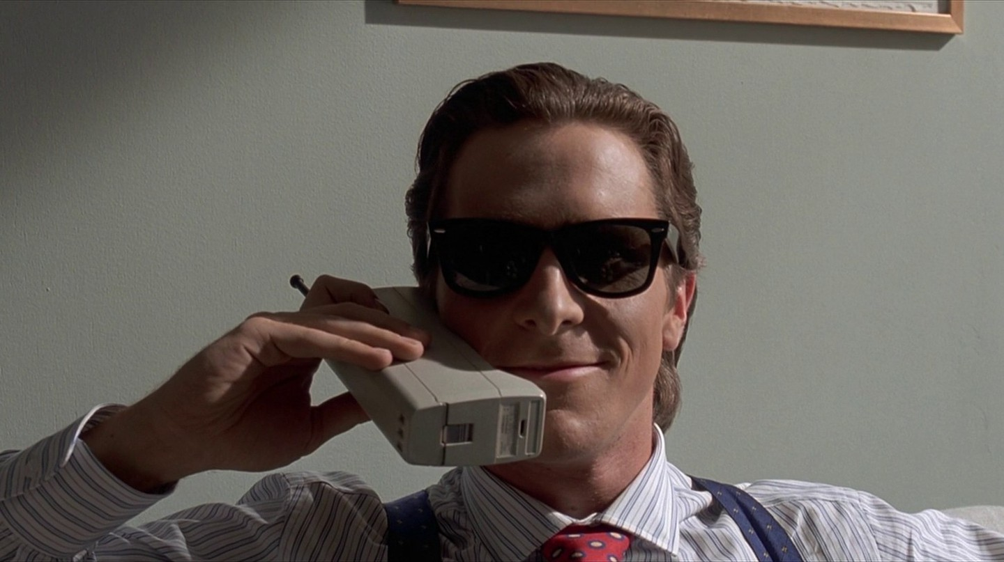 Christian Bale in Ellis' American Psycho © Lions Gate Films