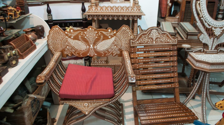 Camel bone is used in this chair | © Shubham Mansingka